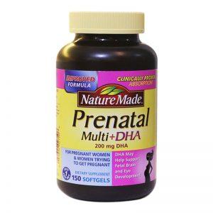 Thuốc bổ cho bà bầu Nature Made Prenatal Multi + DHA150 viên của Mỹ