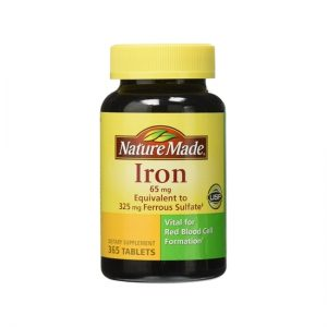 Viên uống bổ sung sắt Iron 65mg Nature Made 365 viên